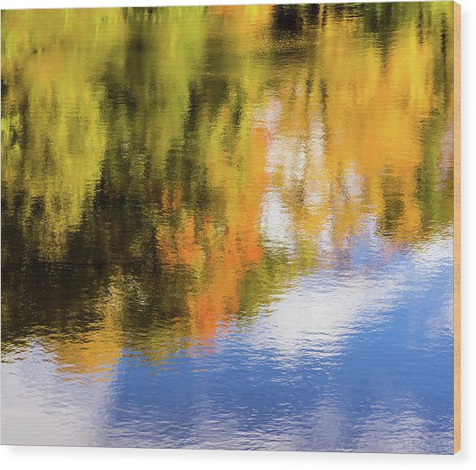 Reflection Of Fall #2, Abstract Wood Print