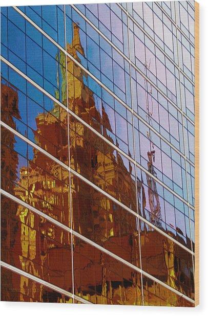 Reflection Of The Past - Tulsa Wood Print