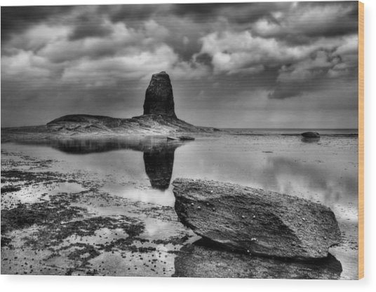 Reflections At Black Nab Wood Print