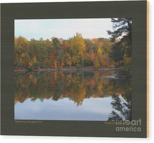 Reflections At Boughton Park Wood Print