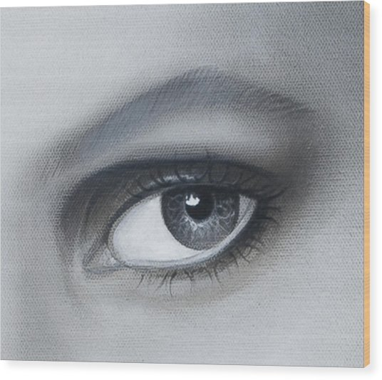 Reflections Eye Wood Print by Joshua South