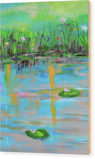 Reflections In Spring Wood Print