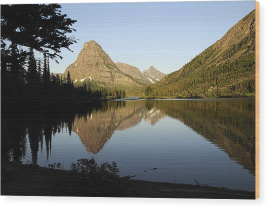 Reflections Wood Print by Keith Lovejoy
