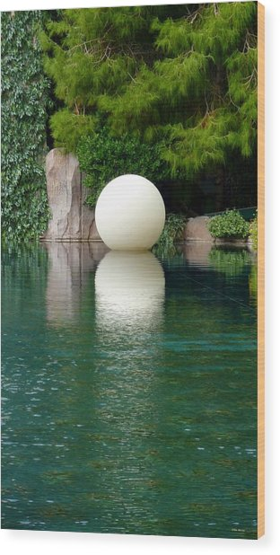 Reflections Of An Orb Wood Print by Tim Mattox
