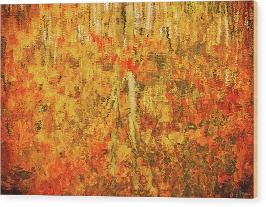 Reflections Of Fall Wood Print