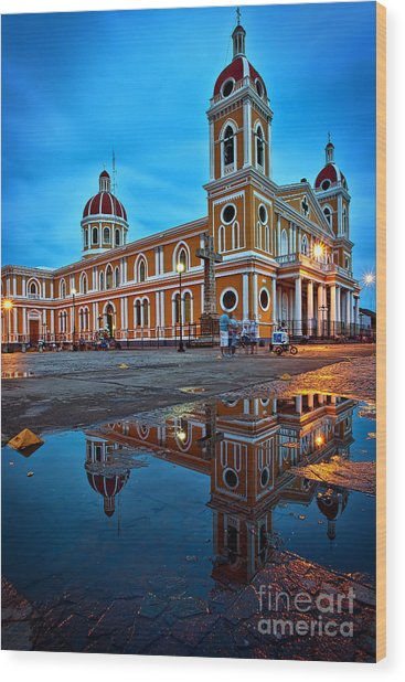 Reflections Of Granada, Nicaragua  Wood Print