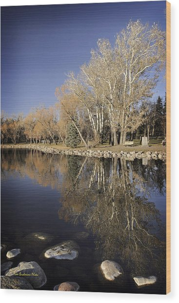 Reflections Of Henderson Wood Print