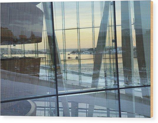Reflections Of Oslo Wood Print
