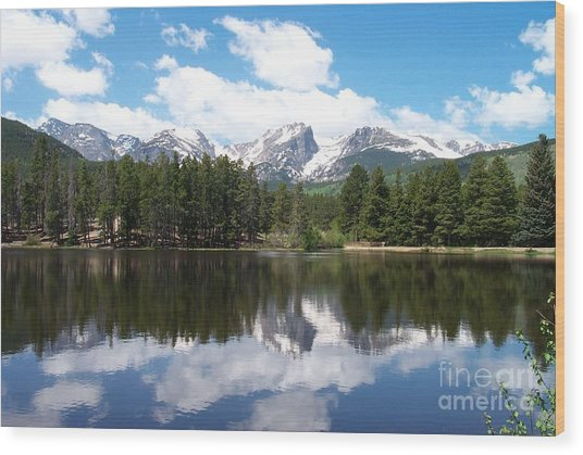 Reflections Of Sprague Lake Wood Print