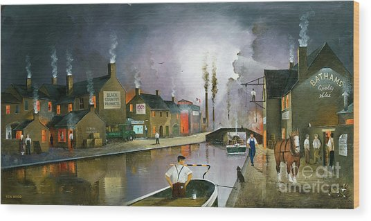 Reflections Of The Black Country Wood Print