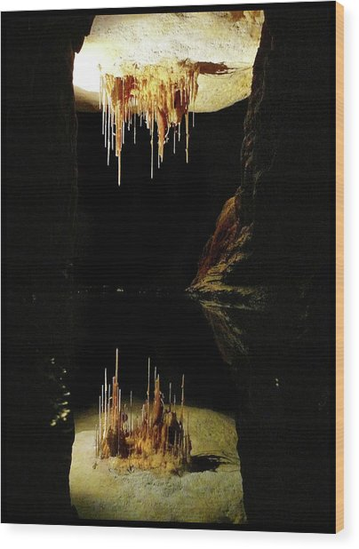 Reflections Of The Underworld Wood Print
