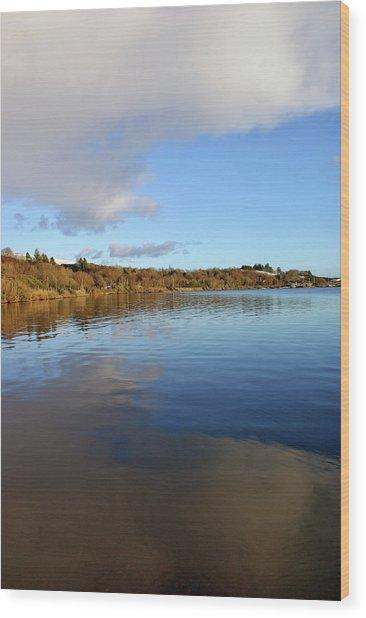 Reflections On Lough Fea. Wood Print