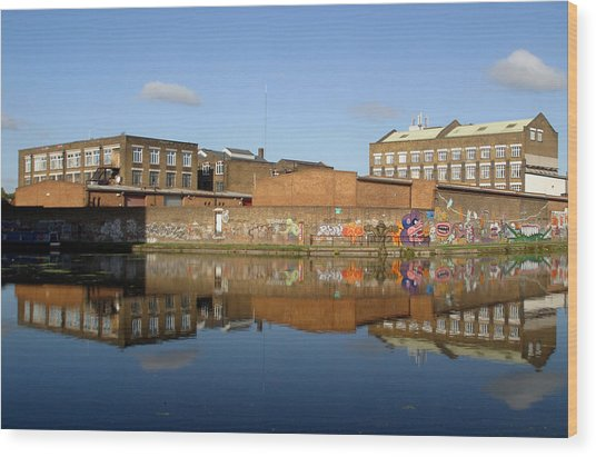 Reflective Canal 3 Wood Print by Jez C Self