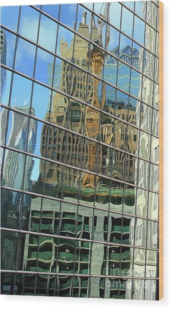 Reflective Chicago Wood Print