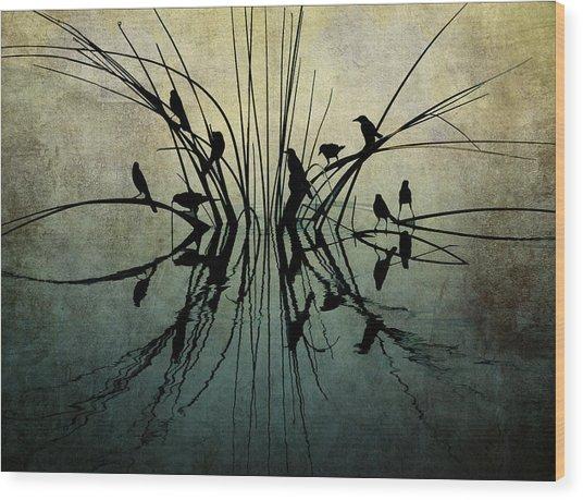 Reflective Grunge Wood Print