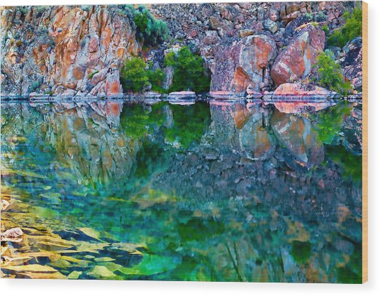 Reflective Pool Wood Print