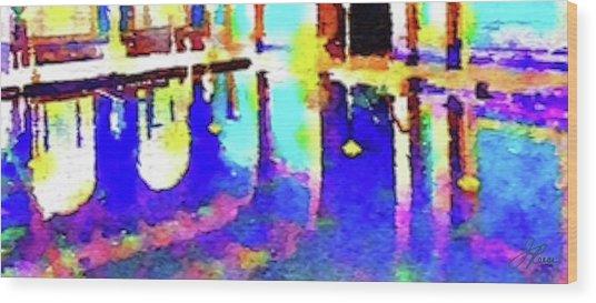 Reflective Pool Hearst Castle Wood Print