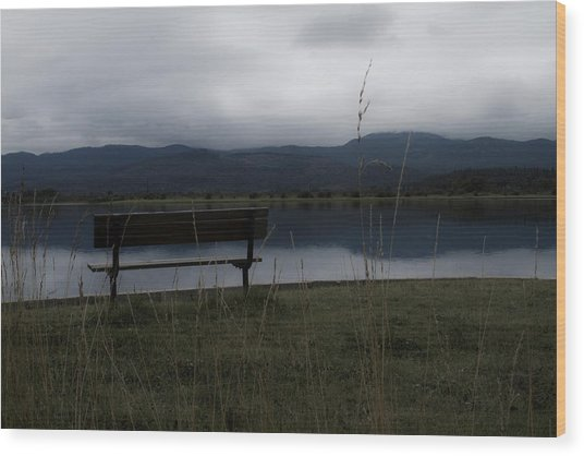 Reflective Solitude Wood Print