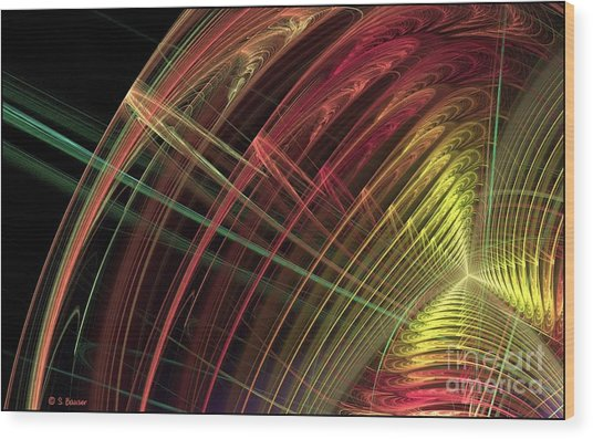 Refraction Wood Print by Sandra Bauser Digital Art