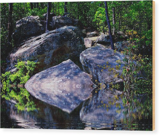 Refreshing Place On A Hot Day Wood Print