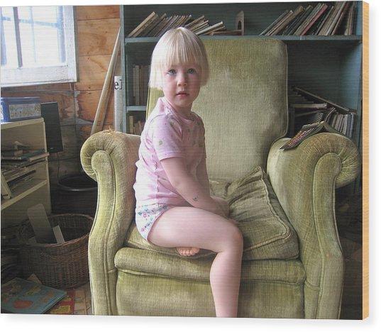 Regal Molly Wood Print by Lynn Friedman
