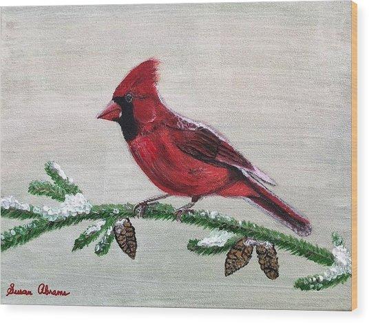 Regal Red Wood Print