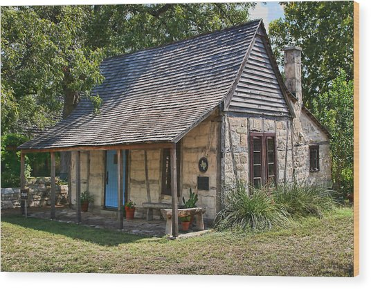 Registered Early Texas Dwelling Wood Print