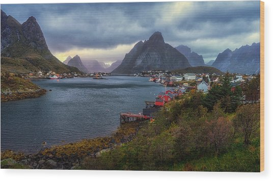 Wood Print featuring the photograph Reine by James Billings