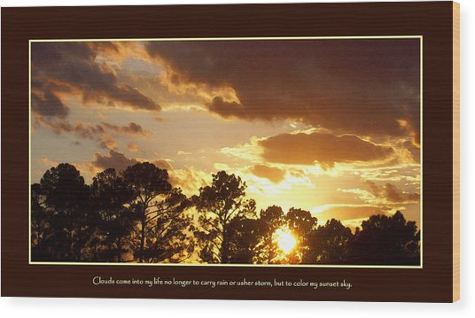Rejoice Wood Print by Ginger Howland