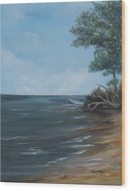 Relaxation Island Wood Print
