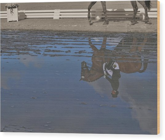 Relaxation Mirrored Wood Print by JAMART Photography