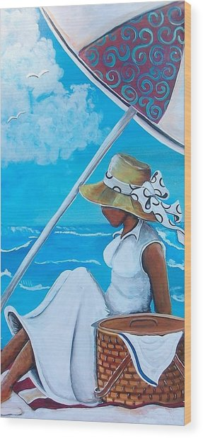 Relaxation Wood Print by Sonja Griffin Evans