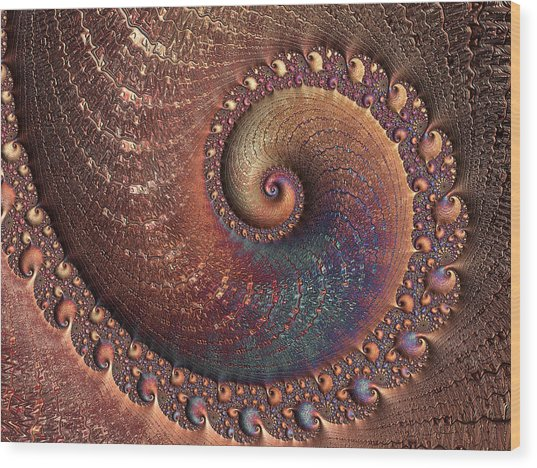Wood Print featuring the digital art Relic by Susan Maxwell Schmidt