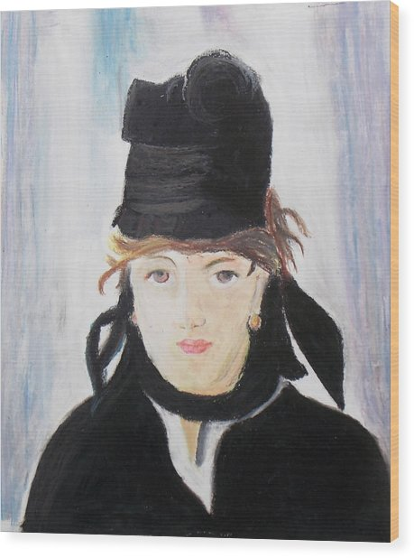 Remake Portrait Of Berthe Morisot Wood Print