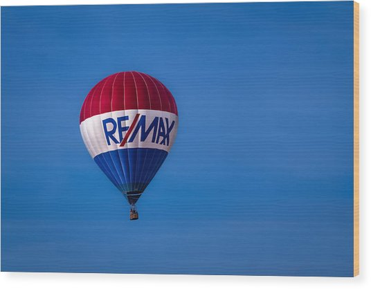 Remax Hot Air Balloon Wood Print