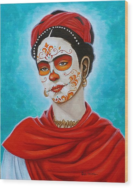 Remembering Frida Wood Print