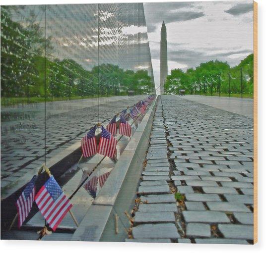 Remembrance Of Patriotism Wood Print