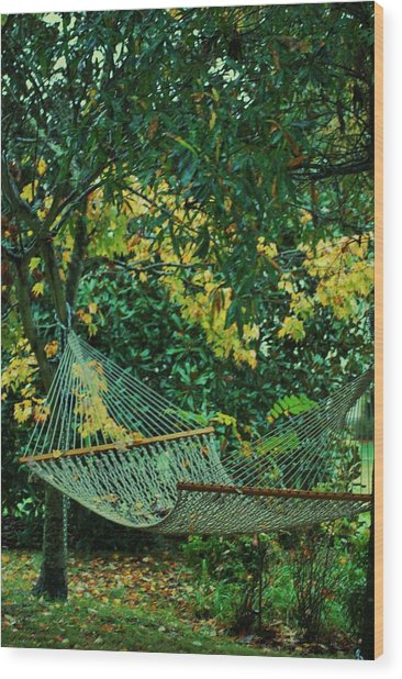 Remnants Of Summer Wood Print by Trudi Southerland