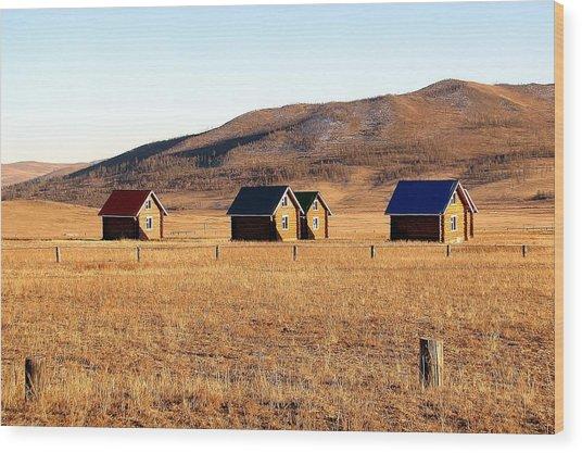 Remote Mongolia Wood Print