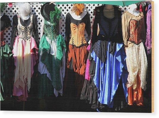 Renaissance Dresses Wood Print