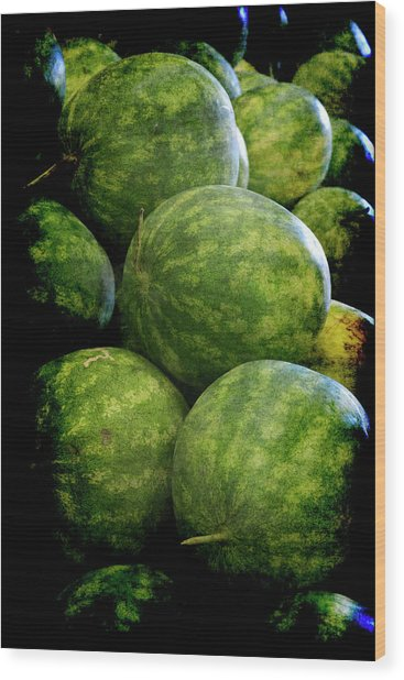 Renaissance Green Watermelon Wood Print
