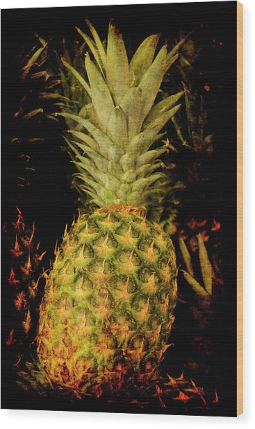 Renaissance Pineapple Wood Print