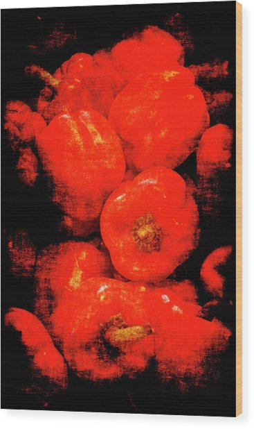 Renaissance Red Peppers Wood Print