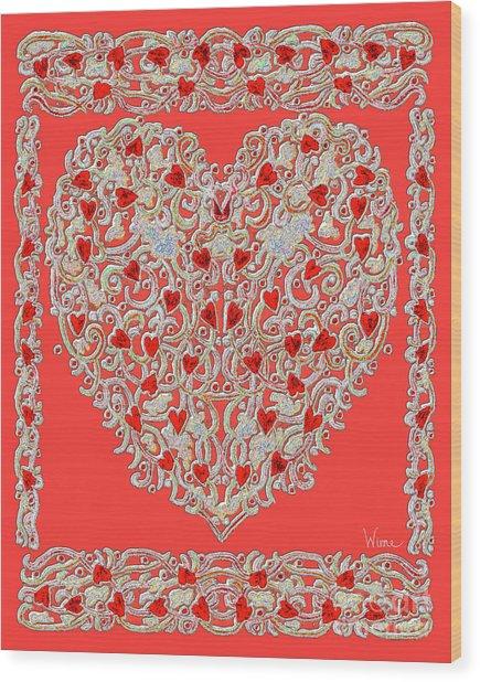 Renaissance Style Heart Wood Print