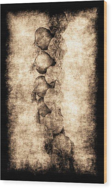 Renasiaance Garlic Wood Print
