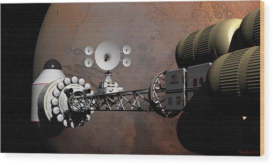 Rendezvous At Mars Wood Print