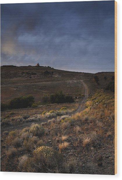 Reno Sunset Wood Print