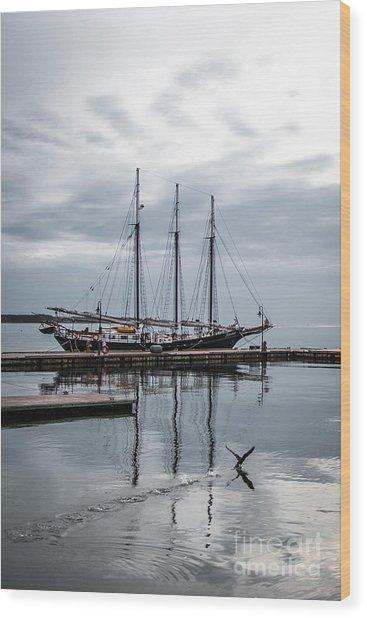 Rent Reflection Wood Print