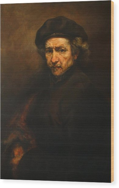 Replica Of Rembrandt's Self-portrait Wood Print