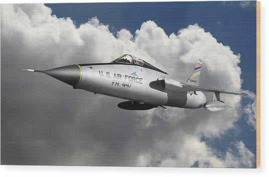 Republic F-105 Thunderchief Wood Print by Larry McManus